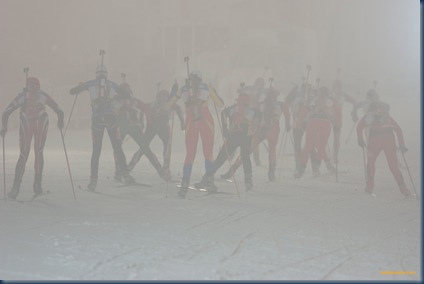Biathlon Weltcup der Damen, Oberhof, 5.1.2006