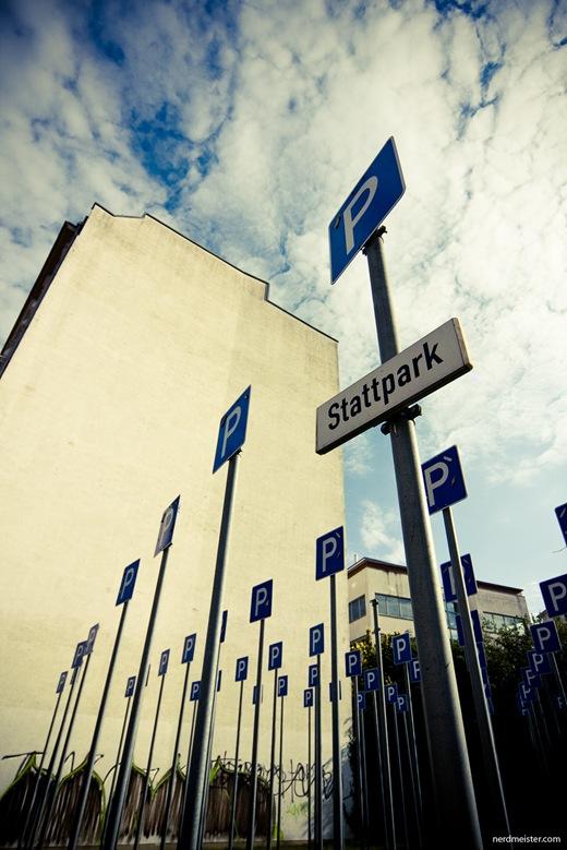 Stattpark, Installation von Klaus Madlowski, Leipzig-Lindenau